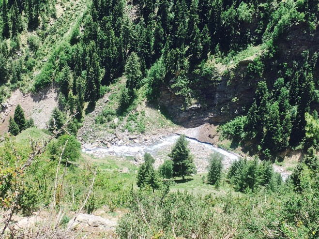 black river Sangla Kanda Himachal Pradesh India