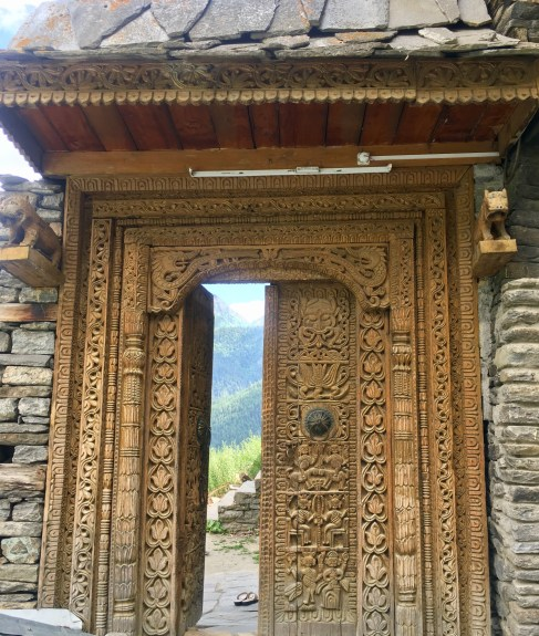 Beautiful door on way to kamru fort Sangla for Kamakshi devi Temple, Sangla valley India