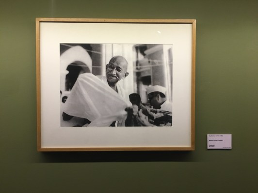 Gandhi Picture at National Gallery of Modern Art Delhi