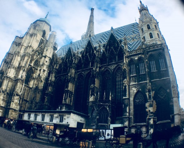 Places to visit in Vienna in 2 days | St Stephans Cathedral Fish-Eye View-Vienna