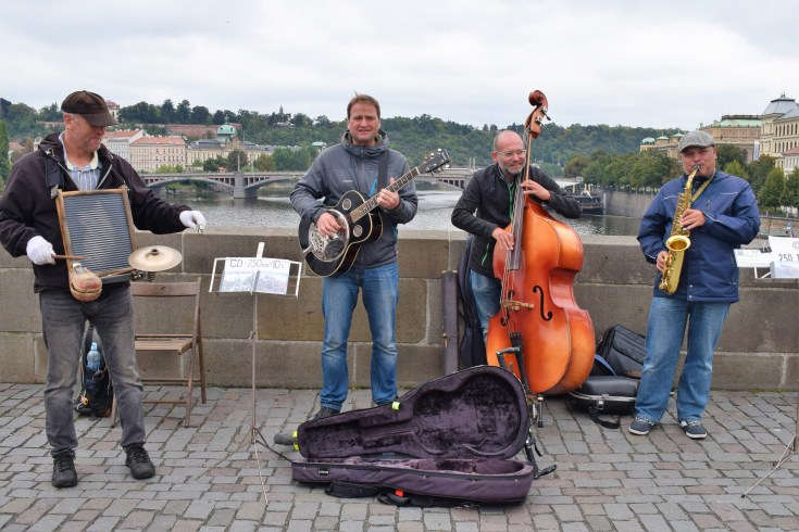 Prague Artists at Charles bridge