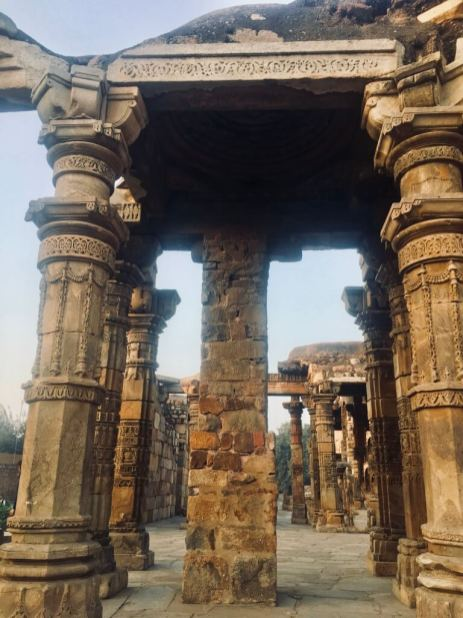 Qutub Minar, Delhi, India || stone work ||