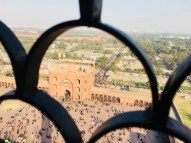 A photographic angle of the courtyard from the top of the Minaret, Jama Masjid