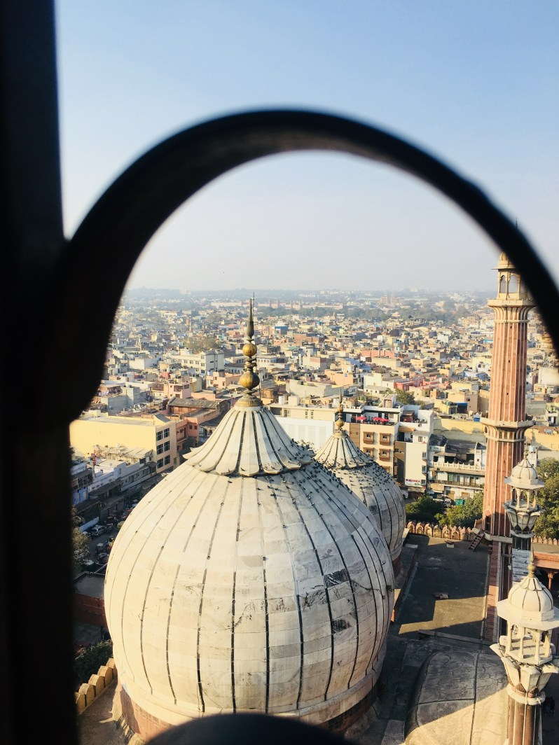 The tomb of Mosque from the Minaret Jama Masjid