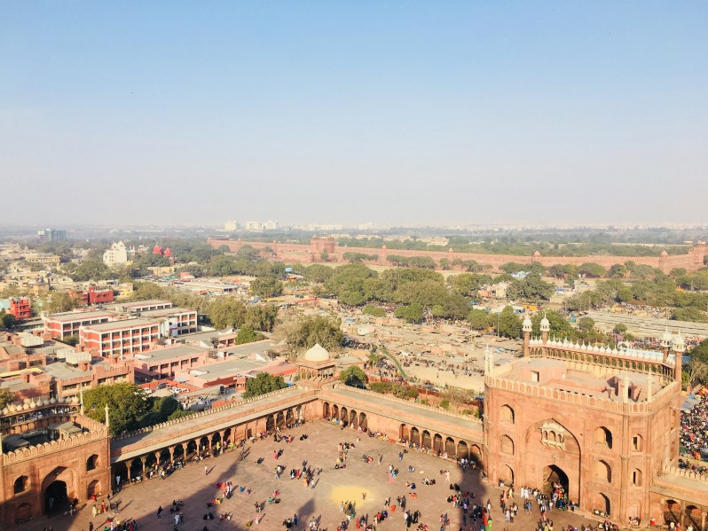 View of the courtyard from the Minaret of Jama Masjid
