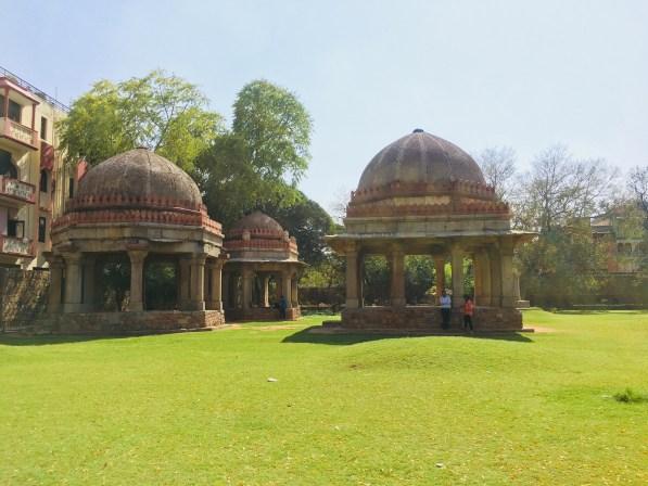The pavilions at the Hauz Khas Fort