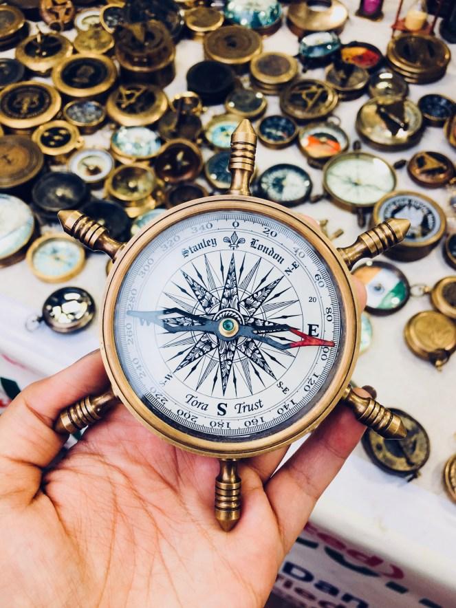 A compass in Dilli Haat | handicraft market in Delhi