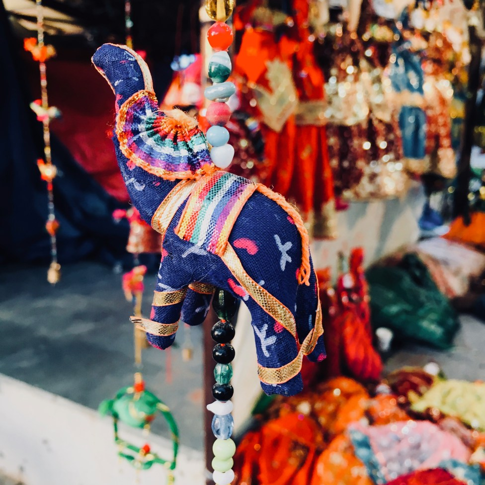 An elephant decor in Dilli Haat