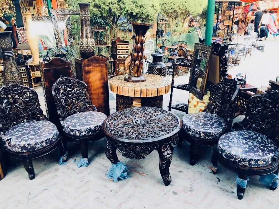 Furniture in Dilli Haat