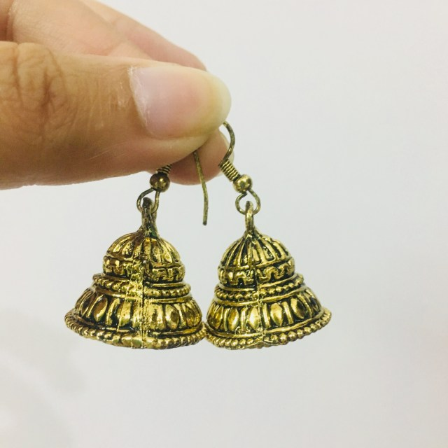 Jhumkas bought from Dilli Haat |  handicraft market in Delhi