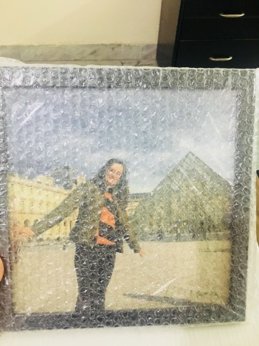 Photojaanic frame bubble wrapped