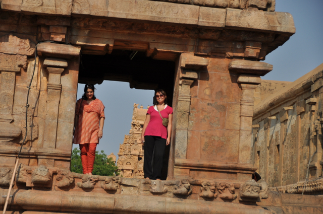 Exploring temples with Anita