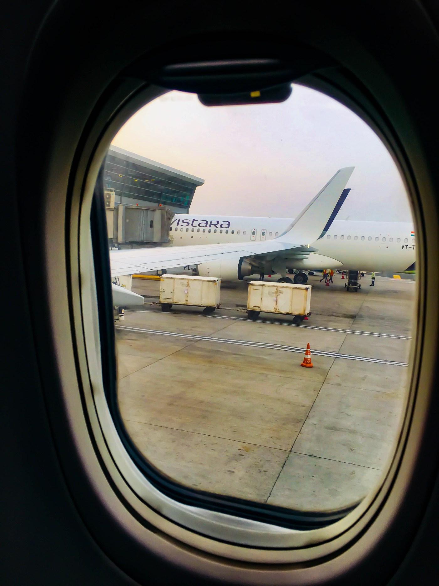 Jet Airways Flight window
