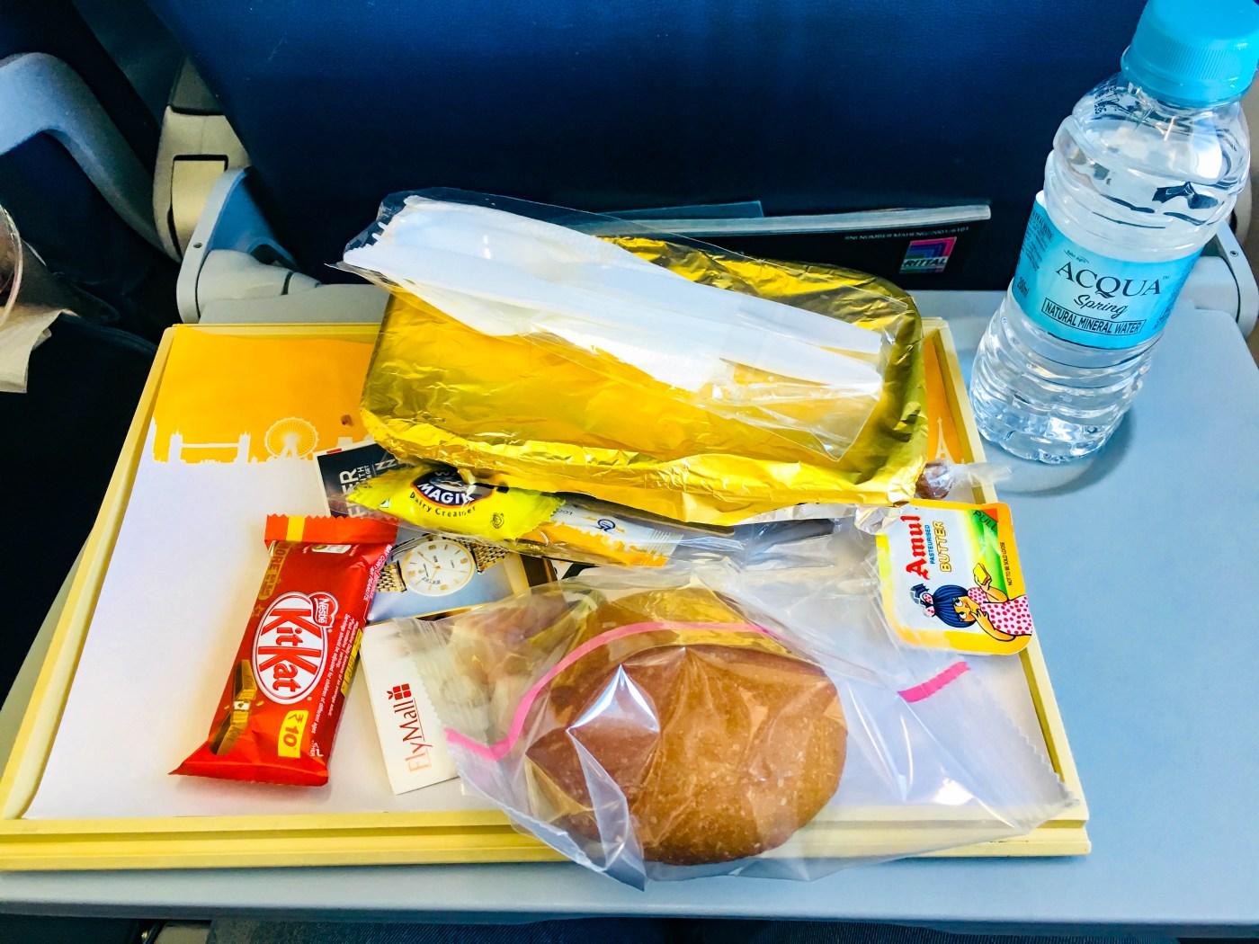 Jet Airways economy class food