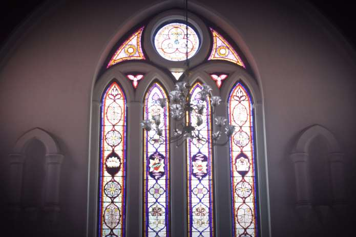 santhome stained windows