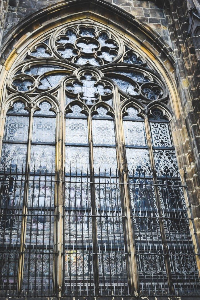 St Vitus Cathedral outside windows work