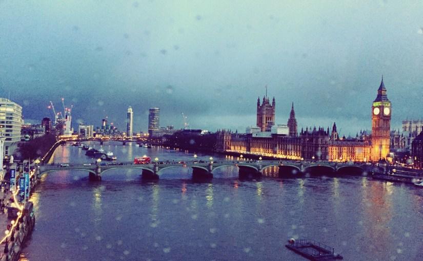 Rain drops in London