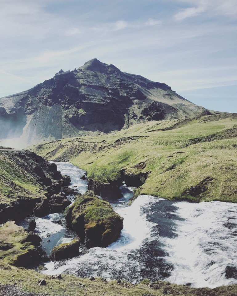 Skógafoss on top of waterfall. 38 photos to visit iceland from the wandering darlings