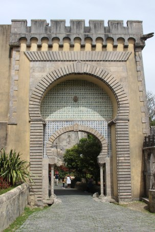 The main gateway is a dominating Moorish arch