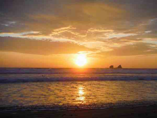 Ayampe Beach Golden Sunset | Ecuador Itinerary