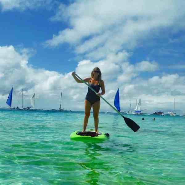 one week in boracay paddle boarding
