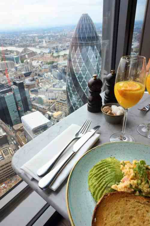 london brunch duck and waffle view