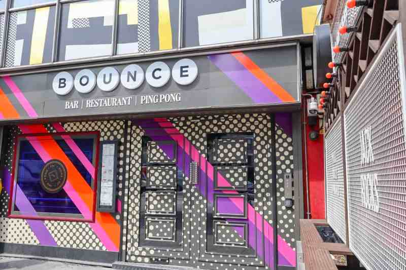 places to go in Shoreditch, Bounce ping pong club on Old Street outside