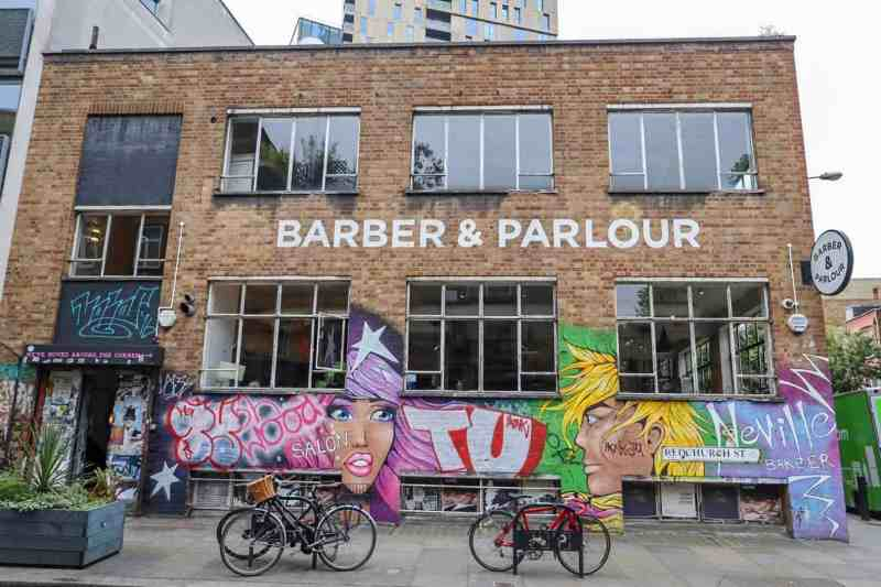 places to go in Shoreditch, Redchurch Street Barber and Parlour Cafe and Grafitti