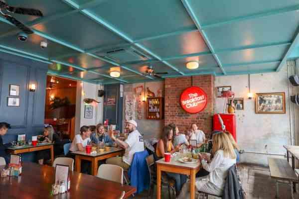 London Brunch Spots, The Breakfast Club Hoxton inside