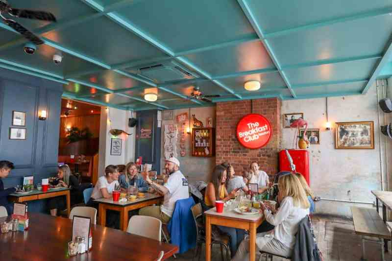 places to go in Shoreditch, The Breakfast Club Hoxton inside