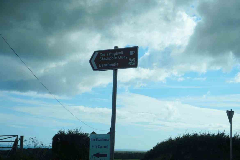 Stackpole Quay Car Park Sign