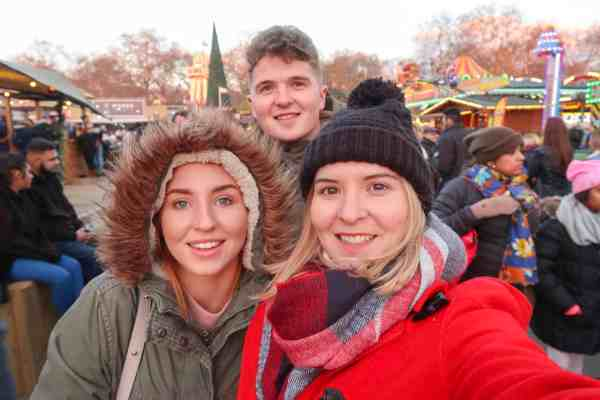 Christmas London Guide Walk brother and sister