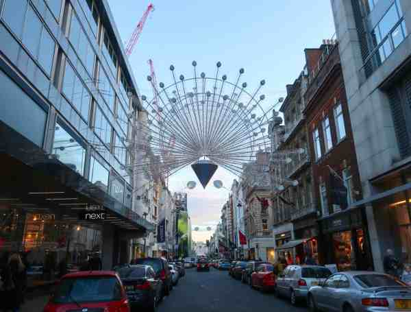 Christmas London Guide Walk bond street