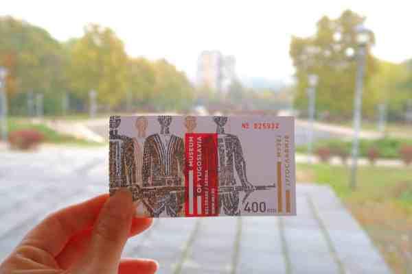 things to do in Belgrade, belgrade museum of Yugoslavia ticket