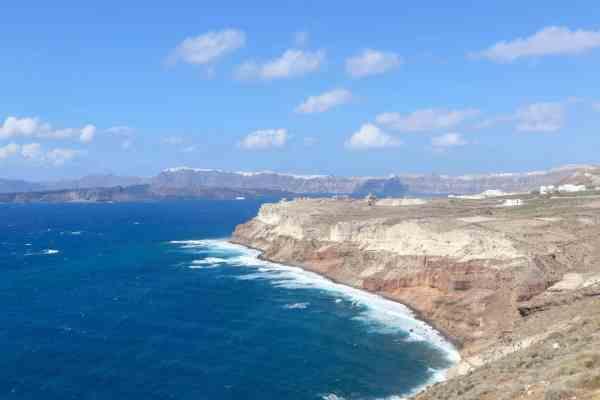 Quad Biking around Santorini Greece lighthouse