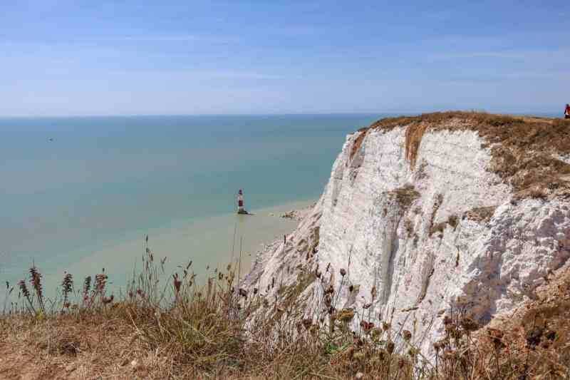 Seven Sisters Cliffs from London, lighthouse