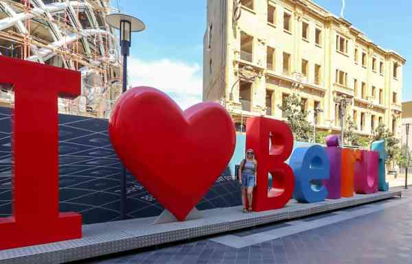 1 day in Beirut things to do, I love beirut sign
