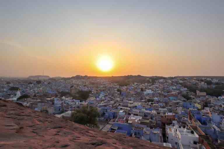 sunset over jodhpur blue city | best places to visit in India