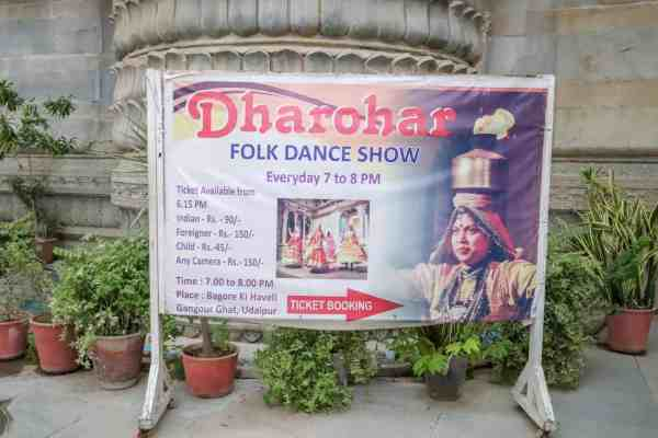 things to do in Udaipur cultural dance show
