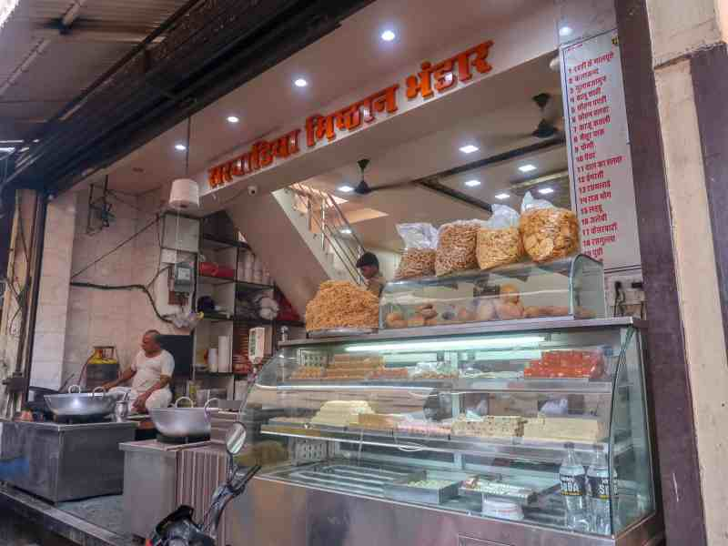 Street food sweet stall | things to do in Pushkar