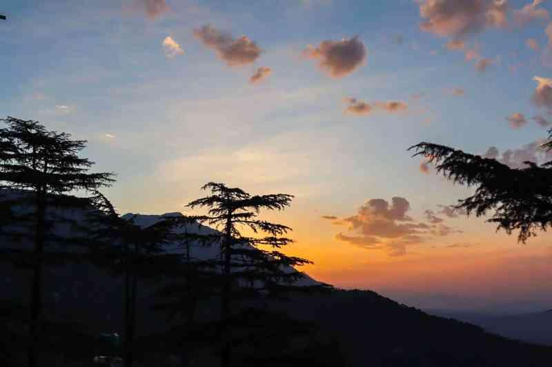 Sunrise from Ram Yoga House Dharamshala McLeod Ganj