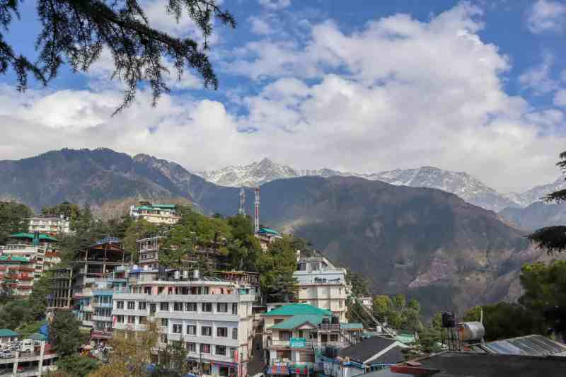 how to meet the dalai lama in Dharamshala, Mountain views from Mcleod Ganj