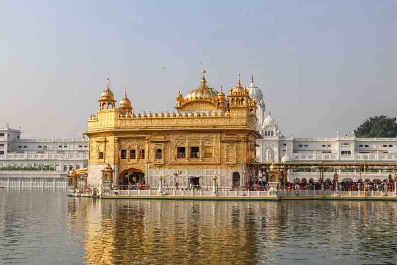 The Golden Temple in Amritsar in the lake