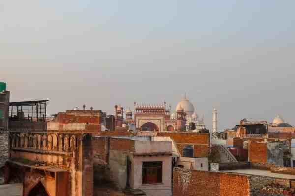 Taj Ganj Restaurant Rooftop View of Taj Mahal