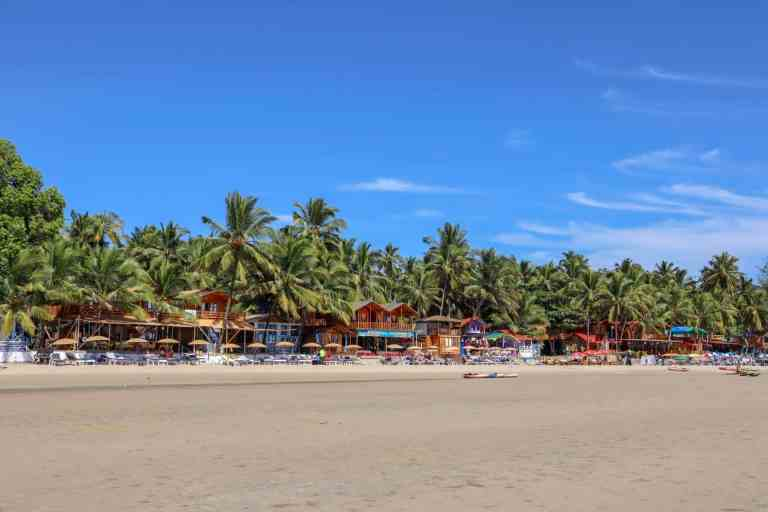 Palolem Beach with blue sky Goa   best places to visit in India