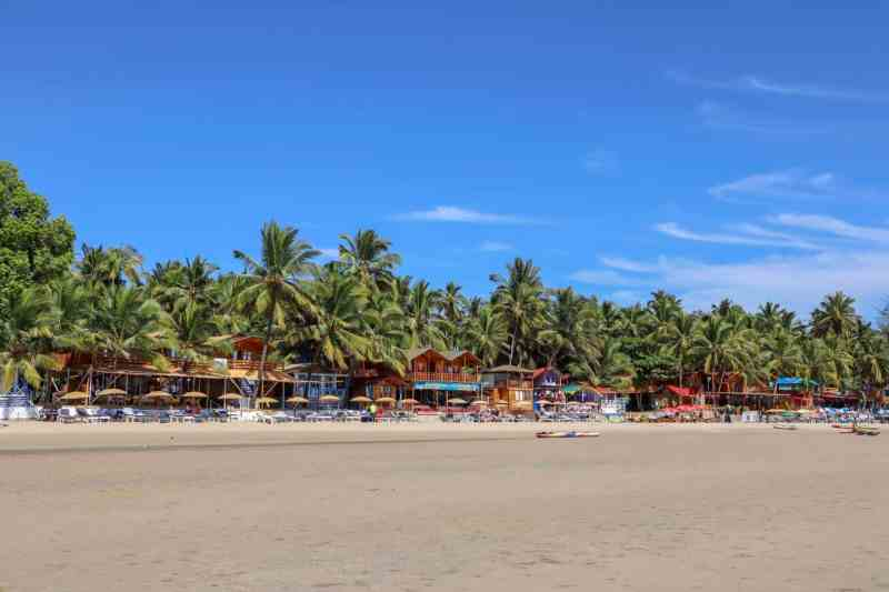 2 week south india itinerary, Palolem Beach with blue sky Goa