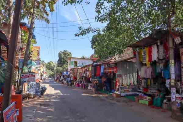 Palolem Beach Main Shopping Street | Palolem Beach Guide