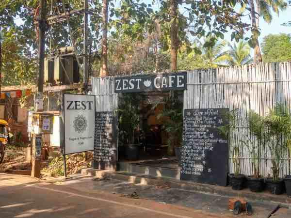 Palolem Beach Zest cafe outside | Palolem Beach Guide