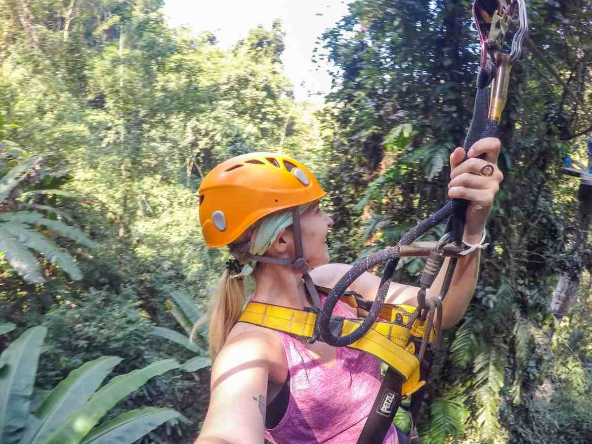2 weeks in Thailand, zip lining chiang man