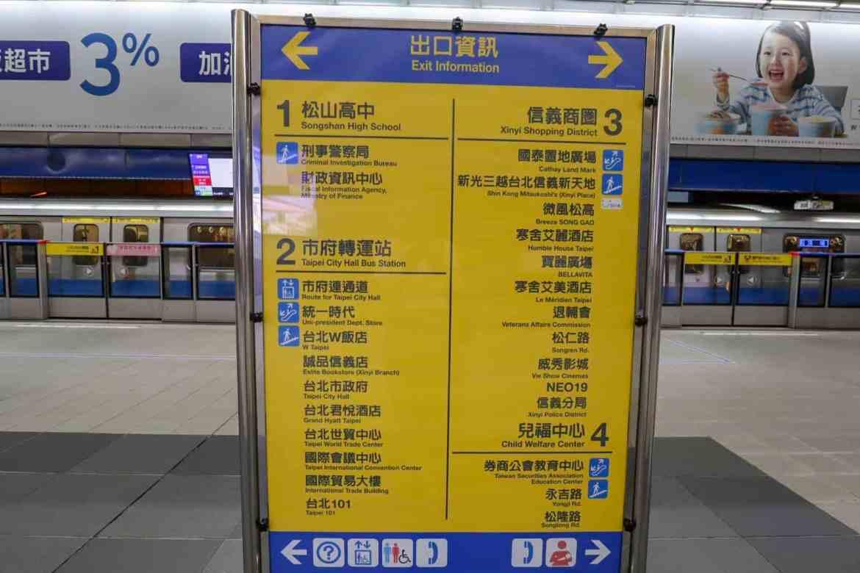 Taipei travel tips, Taipei MRT Signs